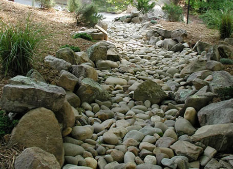 Dry Riverbed on Pinterest Rivers Landscaping and Bed