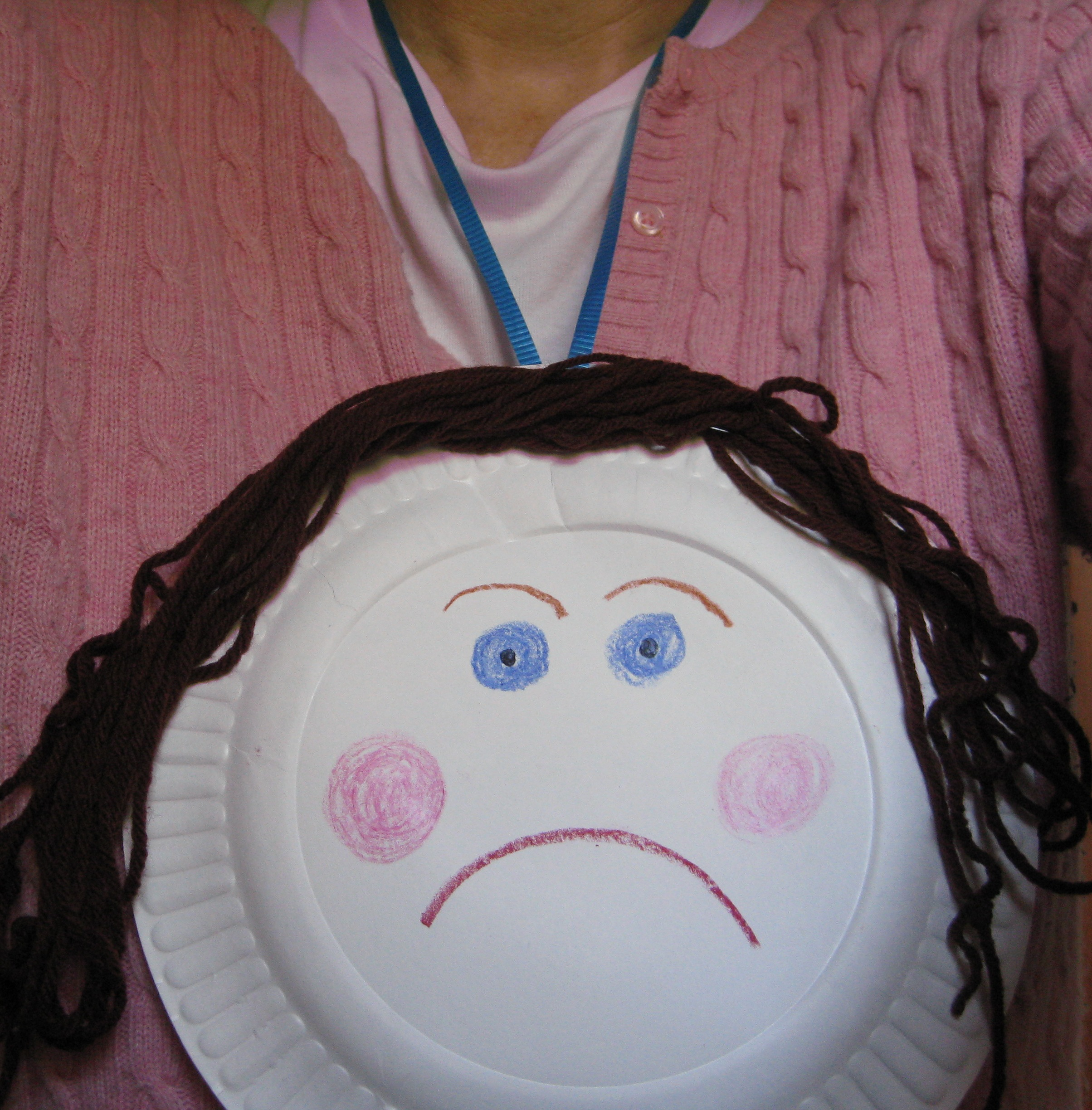Add a hanger so you can wear Paper Plate Menopause Lady around your neck. & Paper Plate Menopause Lady: A Craft Project - talkhealth ...