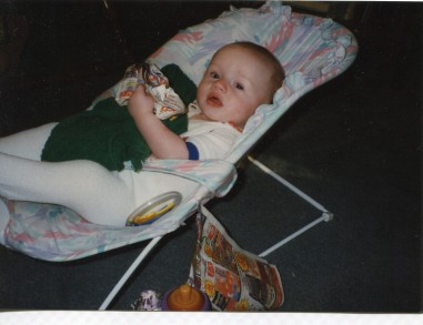 Charlie McKelvey as an infant in 1996