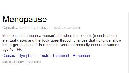Menopause + Definition