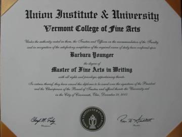 VCFA MFA Diploma