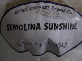 Semolina Sunshine Label