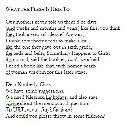 What the Flesh Is Heir To