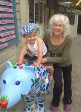 Helen with Grandson