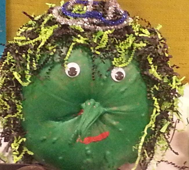 Pumpkin Menopause Lady