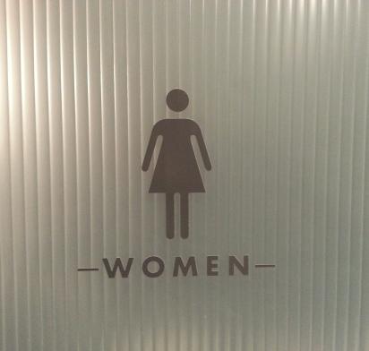Chapel Hill Ladies Room Door