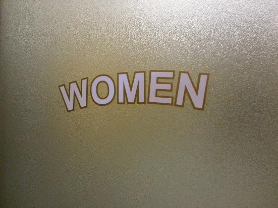 Women's Room Door