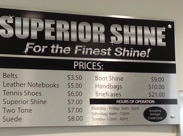Superior Shine Sign