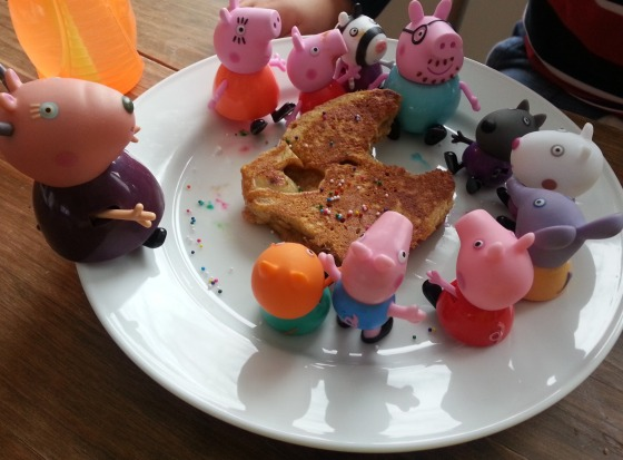 The Pigs Eat Breakfast
