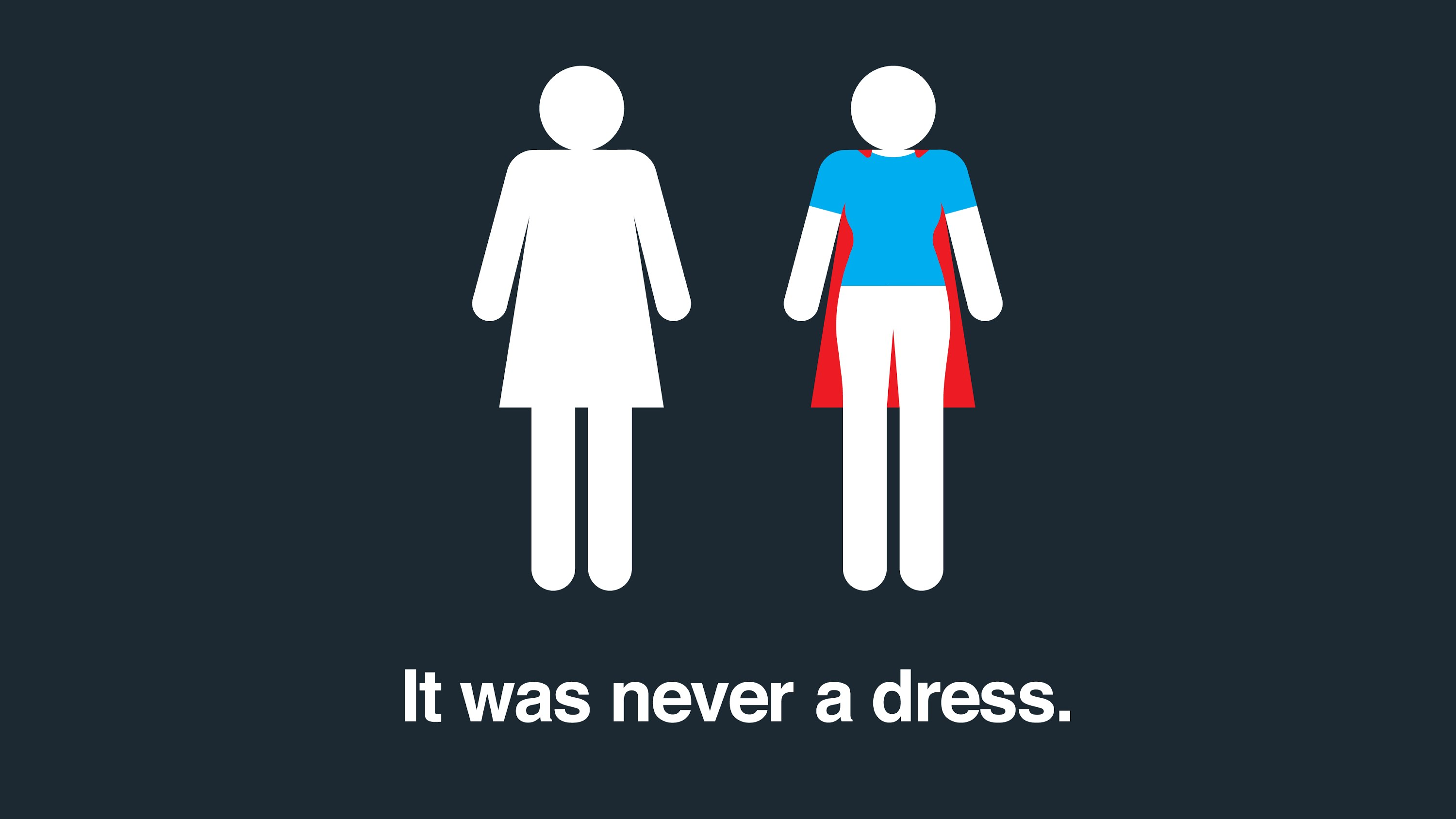 it was never a dress friend for the ride