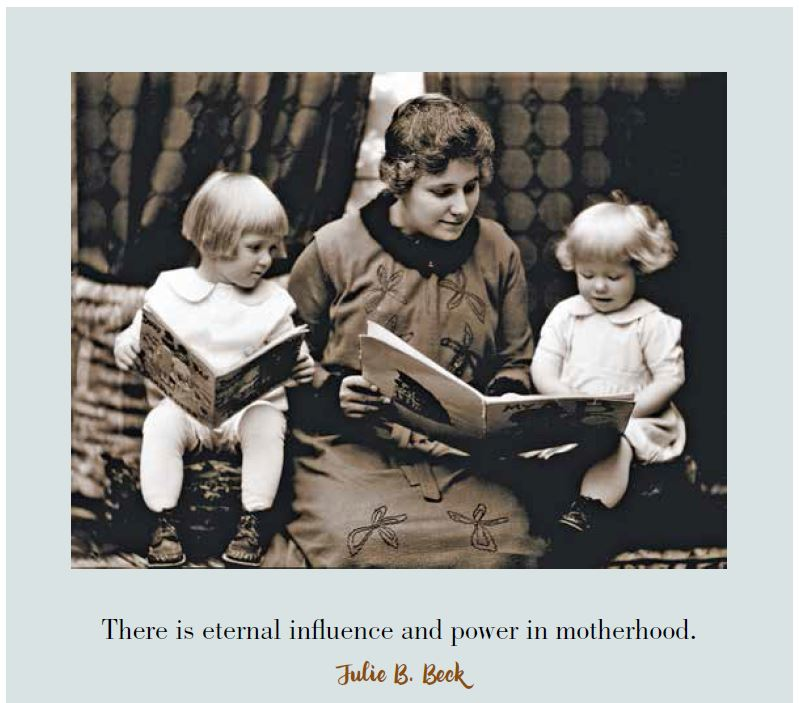 Page 10 - Mother reading to children - motherhood quote