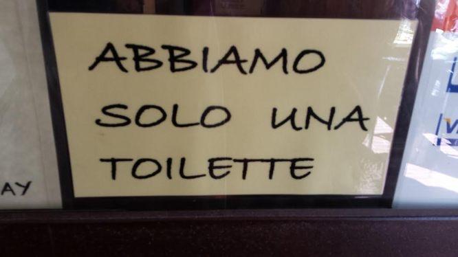 One toilet